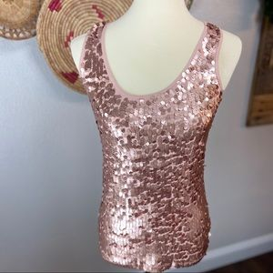 Pink sequined tank Sz M. SO FUN!